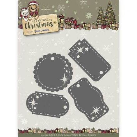 YCD10110 ~ Celebration Christmas ~ Star Tags ~ Yvonne Creations
